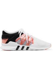 EQT Racing ADV faux suede-trimmed stretch-knit and neoprene sneakers
