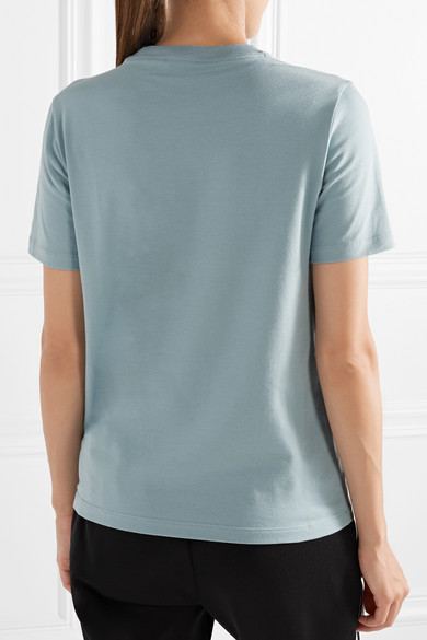 adidas Originals Trefoil bedrucktes T-Shirt aus Baumwoll-Jersey mit Stretch-Anteil