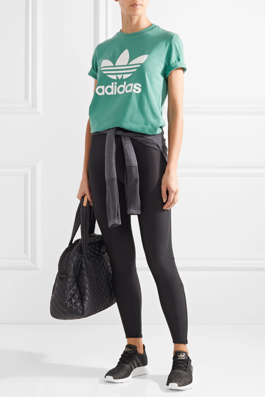 Detenerse alma trama  Jade Trefoil printed cotton-jersey T-shirt | adidas Originals | NET-A-PORTER