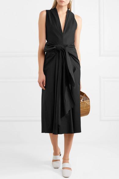TOME Kleid aus Faille aus einer Baumwollmischung mit Schleife