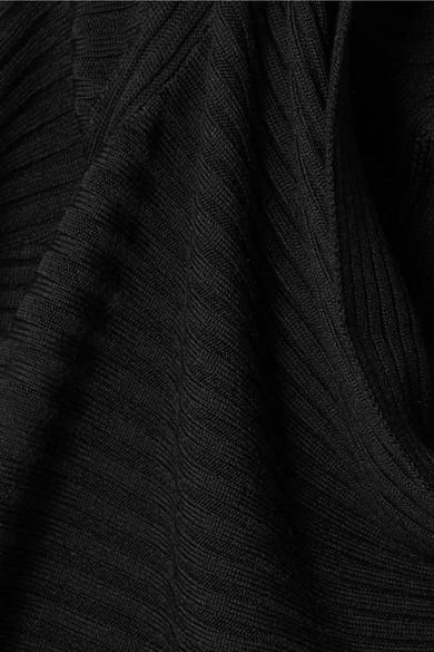 TOME Rippstrickpullover aus Merinowolle mit asymmetrischer Schulterpartie
