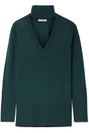 TOME Cutout merino wool turtleneck sweater