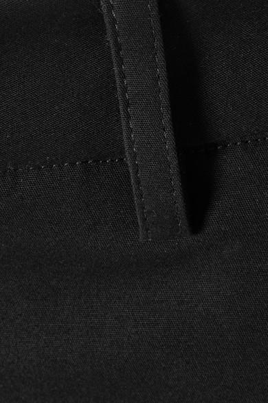 TOME Hose mit weitem Bein aus Faille aus einer Baumwollmischung