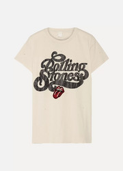 MadeWorn Rolling Stones appliquéd printed cotton-jersey T-shirt