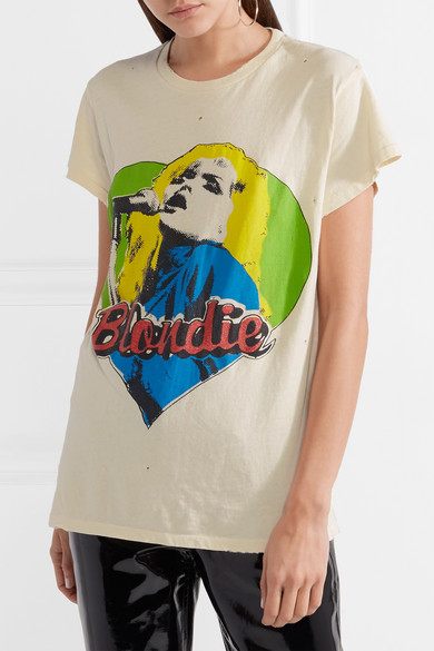 MadeWorn Blondie bedrucktes T-Shirt aus Baumwoll-Jersey in Distressed-Optik