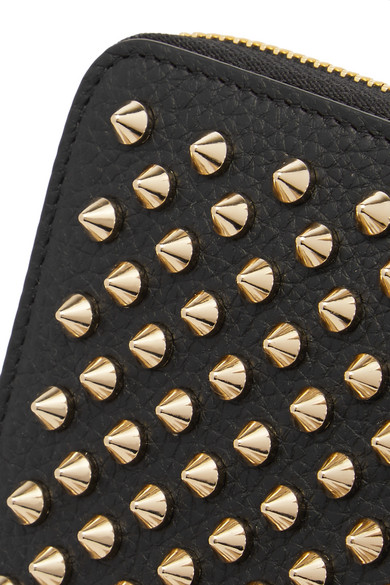 Christian Louboutin Panettone Wallet Made Of Textured Leather With Rivets