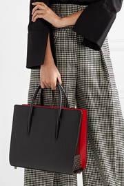 Christian Louboutin Paloma medium spiked textured, smooth and patent-leather tote