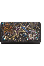 Christian Louboutin Boudoir embellished textured-leather shoulder bag