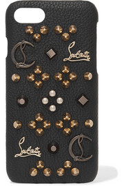 Christian Louboutin Loubiphone embellished textured-leather iPhone 7 case