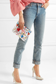 Christian Louboutin Loubicute printed leather pouch