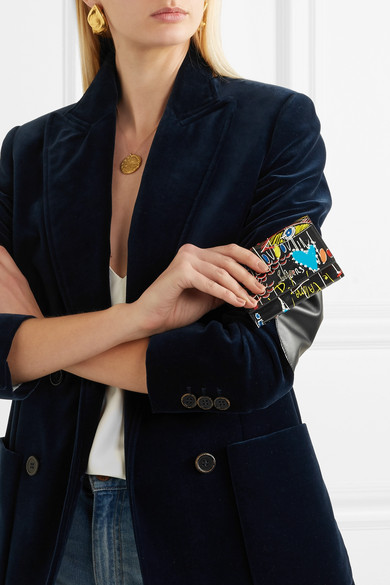 Christian Louboutin Boudoir bedrucktes Portemonnaie aus Lackleder Bester Ort Zum Verkauf oDQLSj