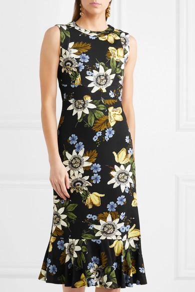 Erdem Grazia Kleid aus Stretch-Ponte mit Blumenprint