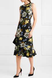 Grazia floral-print stretch-ponte dress