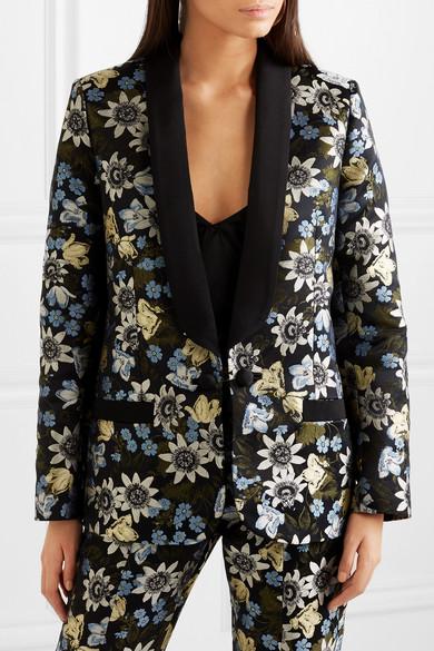 Erdem Anisha Smokingjacke aus floralem Jacquard