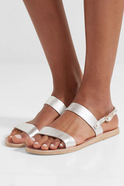 Clio metallic textured-leather sandals