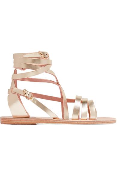 a5dd6c1abeff Ancient Greek Sandals. Satira metallic leather sandals