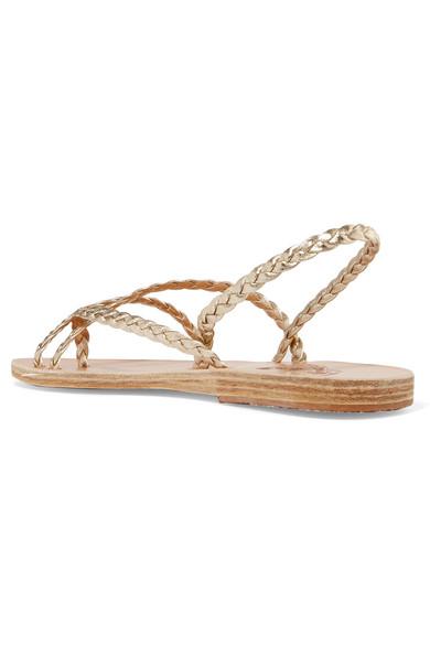 Ancient Greek Sandals Yianna Sandalen aus geflochtenem Metallic-Leder Zuverlässig Exklusiv Beste Freies Verschiffen Bilder empDcmsTFx