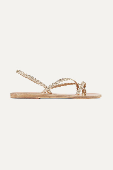f51be69af98a Ancient Greek Sandals. Yianna braided metallic leather sandals
