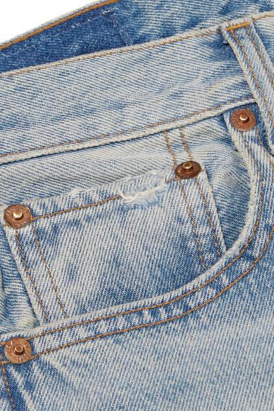 RE/DONE Grunge hoch sitzende Jeans mit geradem Bein in Distressed-Optik