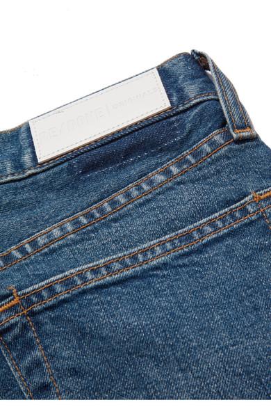 RE/DONE Originals High-Rise Ankle Crop verkürzte Skinny Jeans mit Fransen Billige Nicekicks Billig Verkauf Beste Preise Gutes Verkauf Günstig Online HJnbS