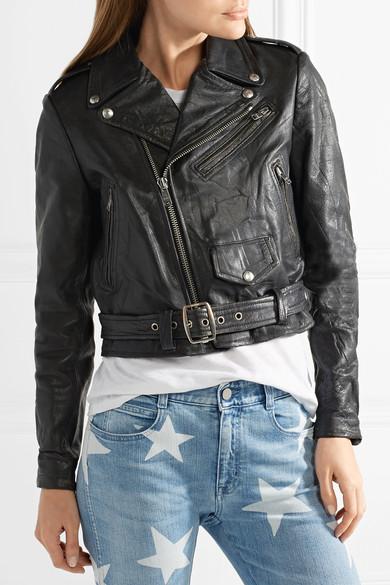 fb90c01061e Moto Racer distressed leather biker jacket