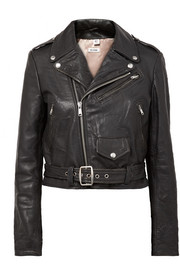 Moto Racer distressed leather biker jacket