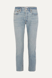 Originals Relaxed Crop frayed slim boyfriend jeans