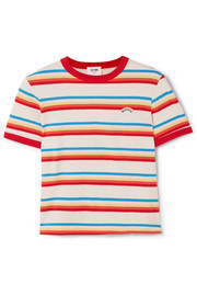 Seventies striped cotton-jersey T-shirt