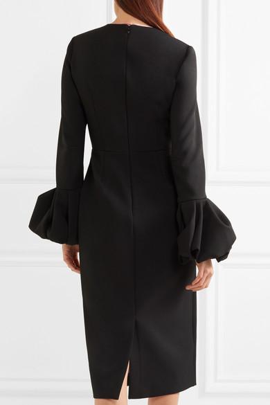 Roksanda Kleid aus Crêpe mit Satinbesatz