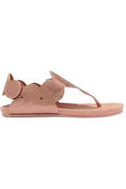 Jamee metallic textured-leather sandals