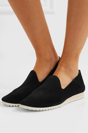 Cristiane perforated suede slip-on sneakers