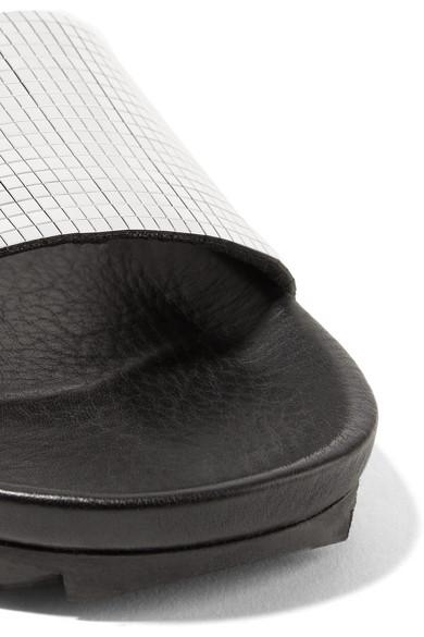 Pedro Garcia Alice Pantoletten aus verspiegeltem Leder Freies Verschiffen Online XpQ3utHN6