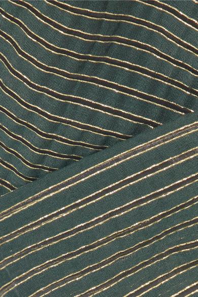 Cefinn Gestreiftes Wickeloberteil aus Voile aus einer Baumwollmischung in Metallic-Optik Billig Verkauf Genießen Dyphg
