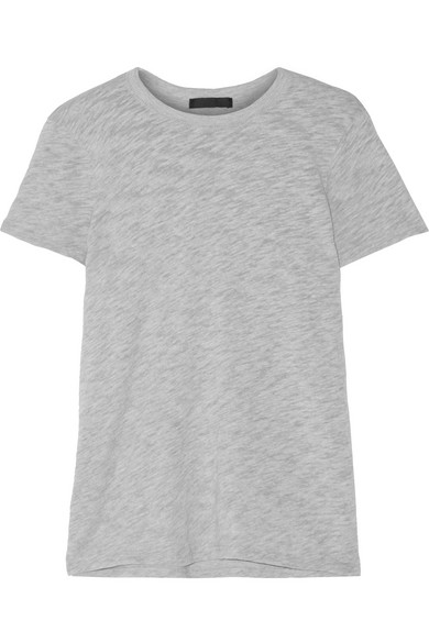 ATM Anthony Thomas Melillo Schoolboy T-Shirt aus Jersey aus einer Baumwollmischung mit Flammgarneffekt