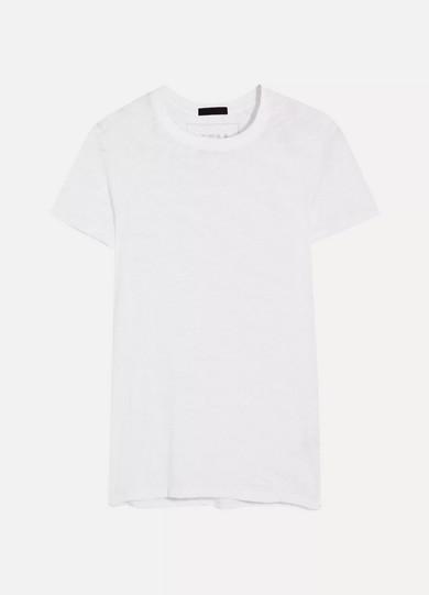 ATM Anthony Thomas Melillo Schoolboy T-Shirt aus Baumwoll-Jersey mit Flammgarneffekt