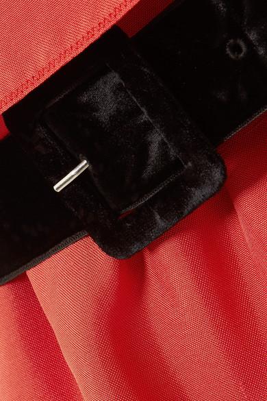 Marc Jacobs Minikleid aus Seiden-Twill mit Gürtel und Besätzen aus Tüll und Samt