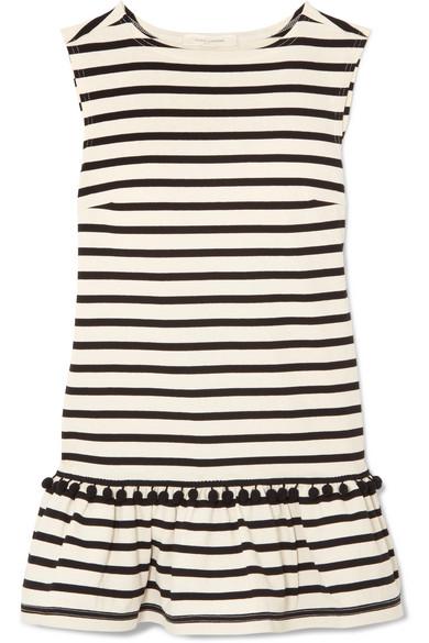Printed Striped Cotton-jersey Mini Dress - Black Marc Jacobs znUDNXBEAZ