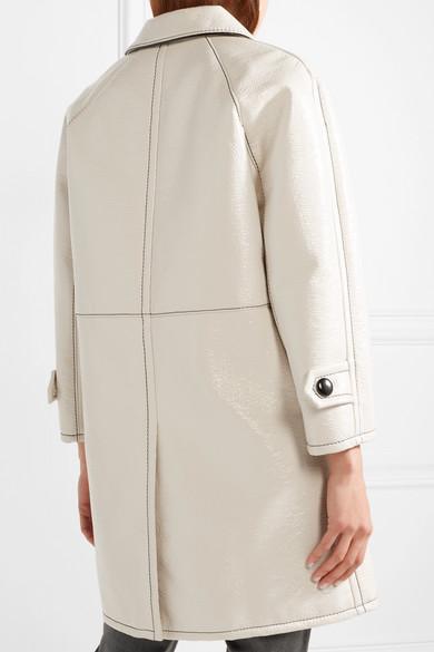 Marc Jacobs Balmacaan Mantel aus strukturierter, beschichteter Baumwolle