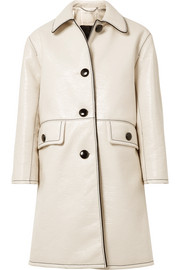 Marc Jacobs Balmacaan textured coated-cotton coat