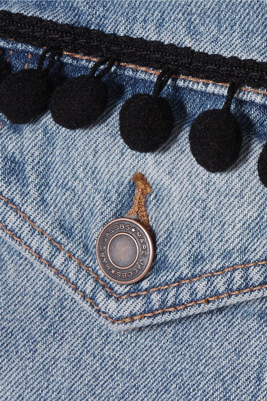 Marc Jacobs Verkürzte Jeansjacke mit Pompons