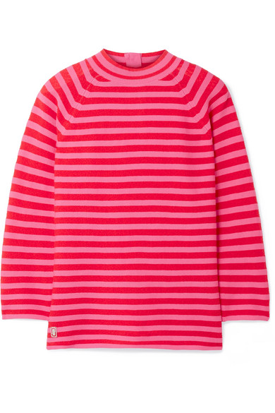 Marc Jacobs - Striped Cotton-blend Sweater - Pink