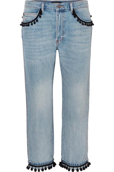 Marc Jacobs Schmale Boyfriend-Jeans mit Pompons