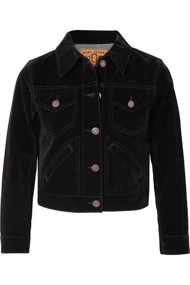 Marc Jacobs - Cropped Velvet Jacket - Black