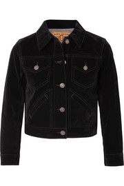 Marc Jacobs Cropped velvet jacket
