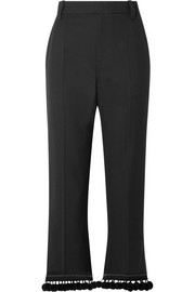 Marc Jacobs Pompom-embellished crepe straight-leg pants