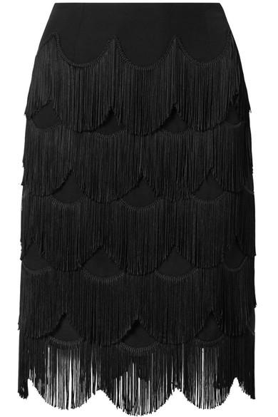 Kostengünstige Online-Verkauf Billig Verkaufen Viele Arten Von Marc Jacobs Rock aus Crêpe mit Fransen Auslass Original P4VvbdB