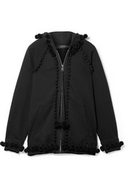 Marc Jacobs Pompom-embellished cotton-terry hooded top