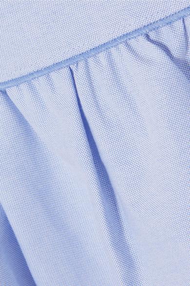 Marc Jacobs Kleid aus Baumwoll-Chambray mit Tüllbesatz und Rüschen