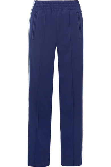 Marc Jacobs Jogginghose aus glänzendem Jersey mit Streifen