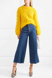 Marc Jacobs Cropped high-rise wide-leg jeans
